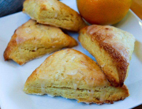 Orange Glazed Scones