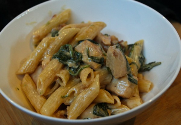Creamy Lemon Chicken & Spinach Penne