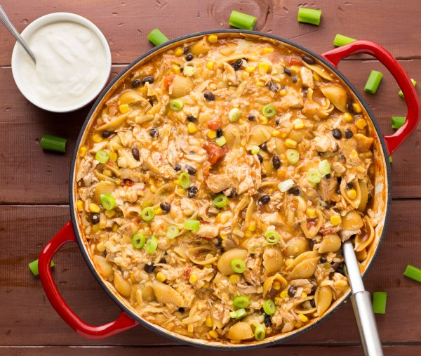 Chicken Enchilada With Shell Pasta