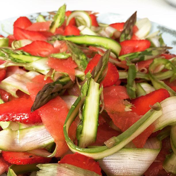 salade-fraises_asperges-pastèque