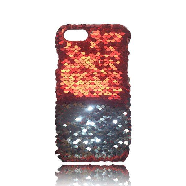 Sequin Flip Case - Red - iPhone 8 Plus / 7 Plus / 6S Plus / 6 Plus 2
