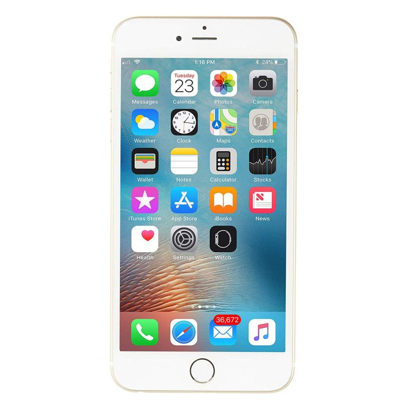 iPhone 6 Plus - 128GB Fully Unlocked - Gold (Renewed) 1