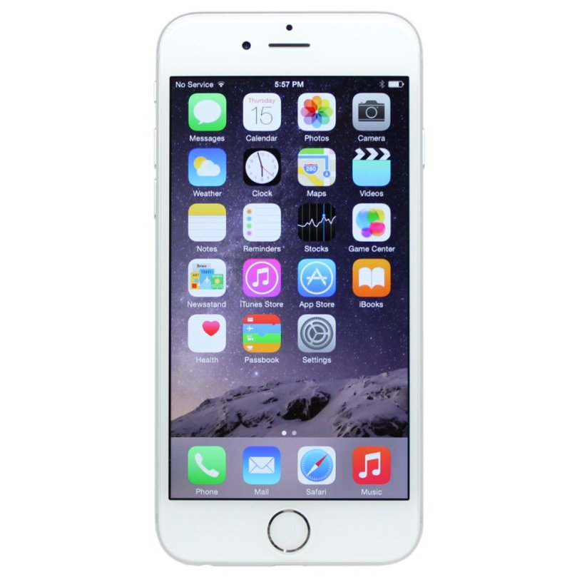 iPhone 6 Plus - 64GB Fully Unlocked - Silver (Renewed) 1