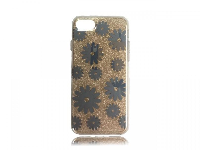 TPU Design Case Flowers - Gold - iPhone 8 / iPhone 7 1