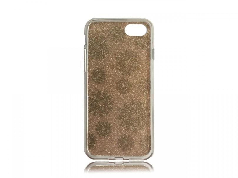 TPU Design Case Flowers - Gold - iPhone 8 / iPhone 7 2
