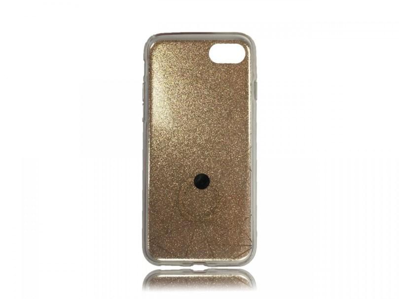 TPU Design Case W/ Ring Triangles - Gold - iPhone 8 / iPhone 7 2