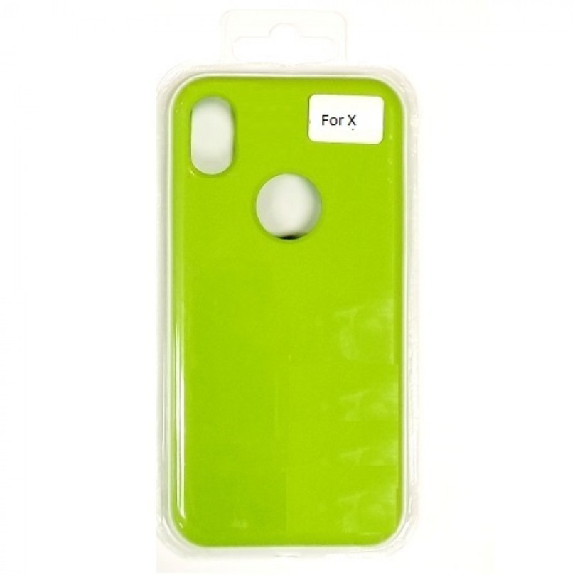 iPhone X/Xs Liquid Silicone Gel Rubber Shockproof Case LIGHT GREEN 1
