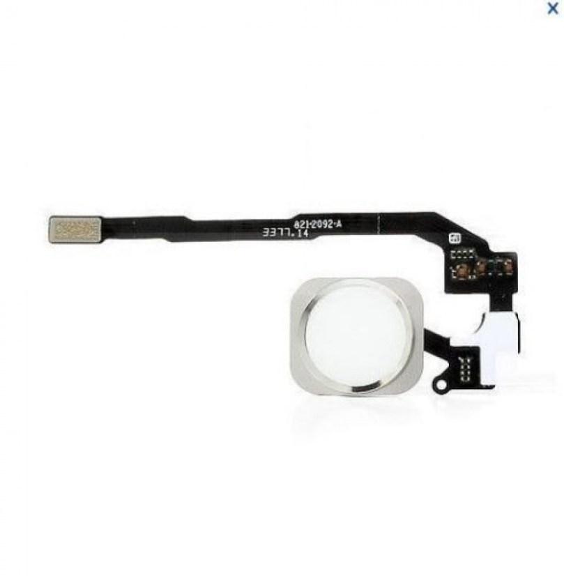 iPhone 5S Flex Cable + Fingerprint Touch ID Sensor Home Button Connector Silver 2