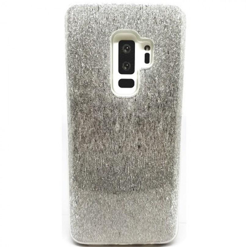 Samsung S9 Daisy Hard TPU Glitter PU Case SILVER 1