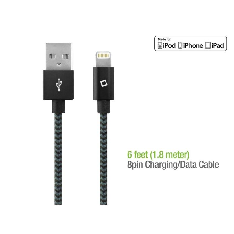 Cellet MFI Apple Certified 6ft Lightning USB Braided Charging Data Cable 3