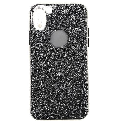 iPhone X/Xs Daisy Hard TPU Glitter PU Case GRAY BLUE 1