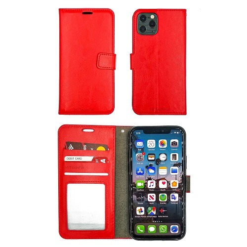 IPHONE-11-PRO-MAX-WALLET-FLIP-RED-0