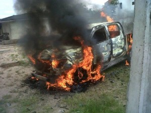 Pictures of Vandalized Vehicles at Kokori