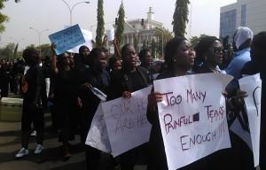 protesting women