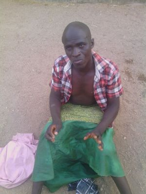 Male terrorist disguised as female in Hijab nabbed by    Nigerian troops as he made for market in Kwaya Kusar in Borno last  weekend   (1)