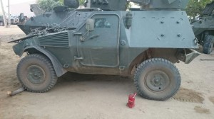 Armoured vehicle captured from Boko Haram
