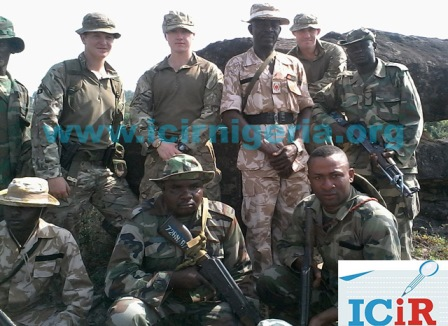 Nigerian troops and their British trainers
