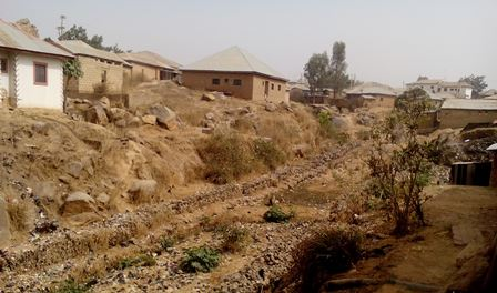 The bandoned erosion control project in Anglo - Jos
