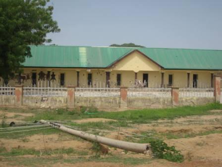 A bullet-ridden Nigeria Legion building in Gulak, Adamawa State