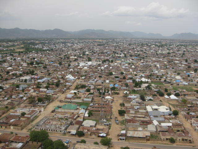An aerial view of Mubi
