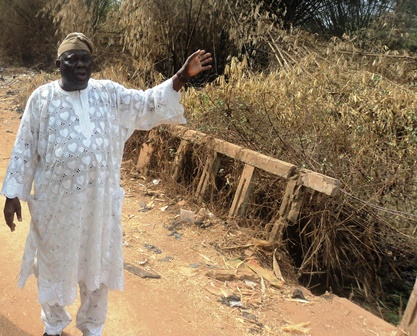 Arajaka of Igbara Odo Ekiti at Oruo river bridge