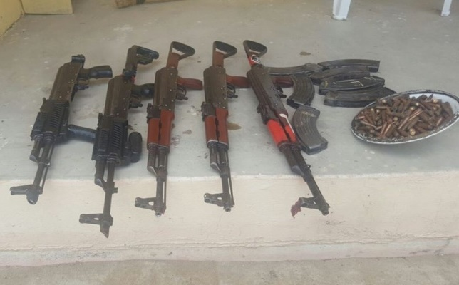 Some of the recovered arms