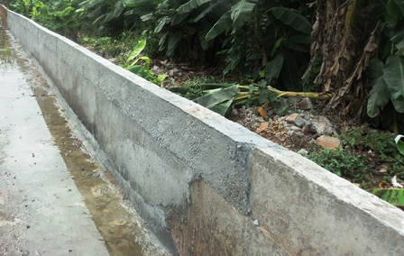 collapsed but repaired portion of Imusin Esure project