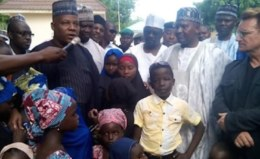 Image result for Insurgency: Borno Governor tours ravaged Communities
