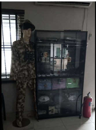 Soldier's uniform for sale in and Army shop