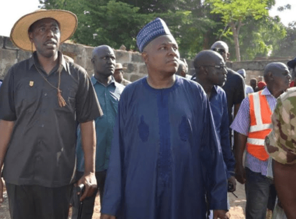 Governor Kashim Shettima temporarily relocated his office to Bama to personally supervise reconstruction works in the area