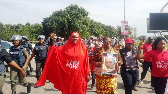 The BBOG Campaigners defied police barricades as they pressed home their demands