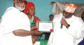 INEC Issues Akeredolu Certificate Of Return