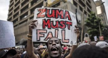 Protesters In South Africa Demand President Zuma's Resignation