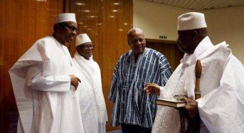 Buhari In The Gambia To Hold Talks With Jammeh