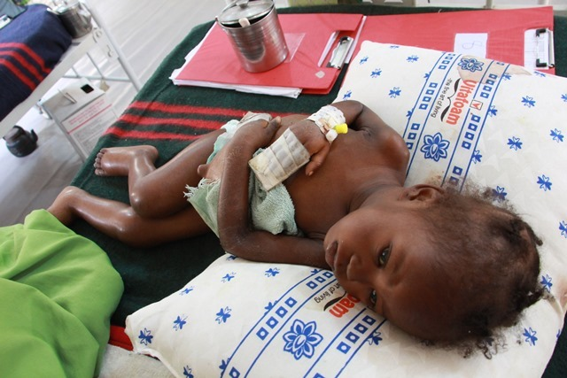 Safiya, a month after she started treatment