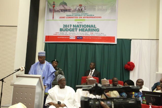 National Assembly Holds Public Hearing On 2017 Budget