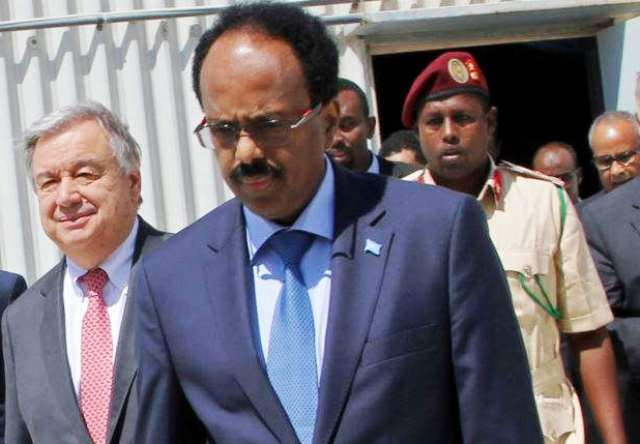 Somali President, who is also a US citizen criticised Trumps executive order during a visit of the UN Secretary General, Antonio Gutterez to the country