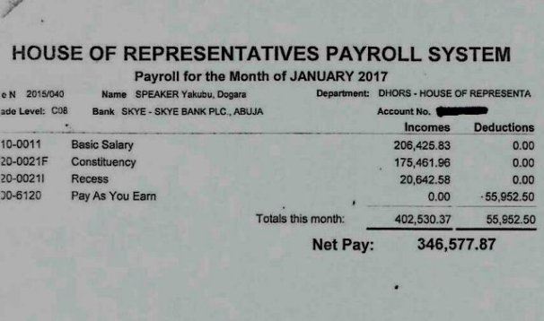Dogara Pay slips3