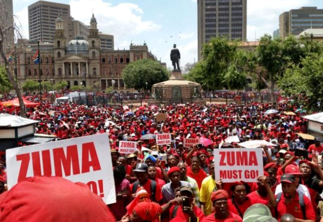 South Africa's Trade Unions Call For Zuma's Resignation