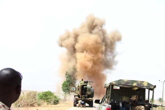 The army ordinance unit safely detonated the IEDs