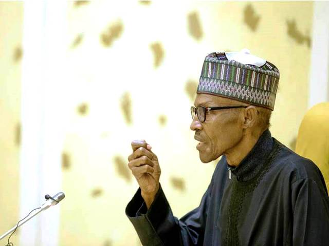 President Muhammadu Buhari, shortly after his return from medical leave in London in March