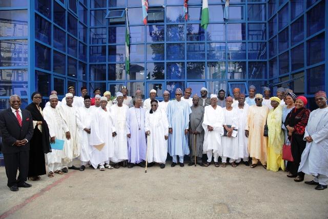 File: President Buhari with members of Northern Elders Forum. Photo credit: Freedom online