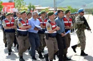 Suspected Coup plotters being led to their trial in Ankara, Turkey. Photo Credit RFE/RL