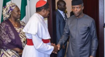 Osinbajo: The church must ostracise those who steal