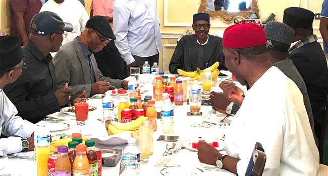 'Buhari can't be this fresh' and other reactions to APC's UK visit