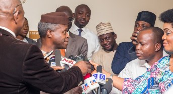 VIDEO: Everything Osinbajo told journalists about his visit to Buhari