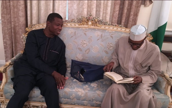 PHOTOS: Adeboye in London to 'pray' for Buhari