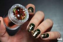 nail art vert foil cuivre