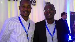 Executive Director ICLDNG Felix Iziomoh and Founder / President of Ashesi University Ghana, Mr. Patrick Awuah