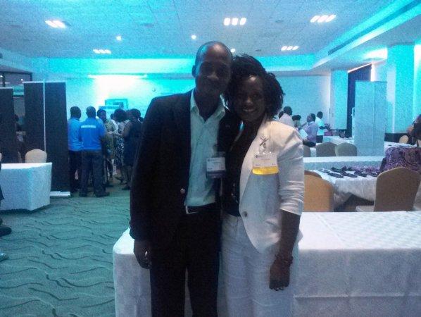 Adedoyin with Aissatou Diajhate, Regional Manager IREX W.Africa